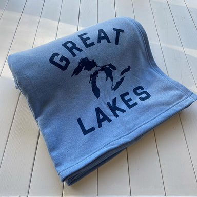 Great Lakes Sweatshirt Blanket