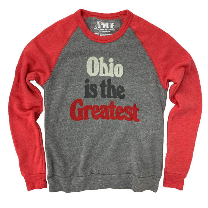 Ohio is the Greatest Colorblock Sweatshirt - Jupmode