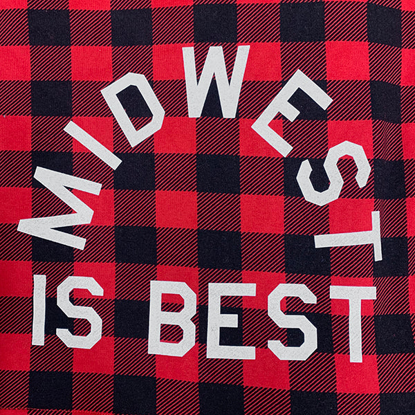 Midwest is Best Sweatshirt Blanket