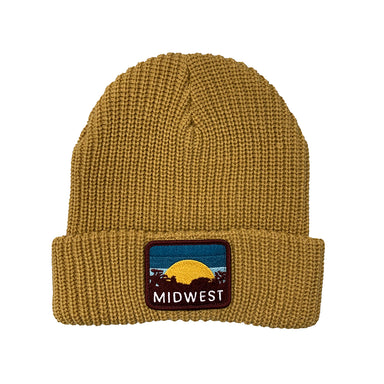 Midwest Sunset Patch Beanie