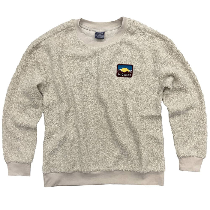 Midwest Sunset Patch Natural Sherpa Sweatshirt