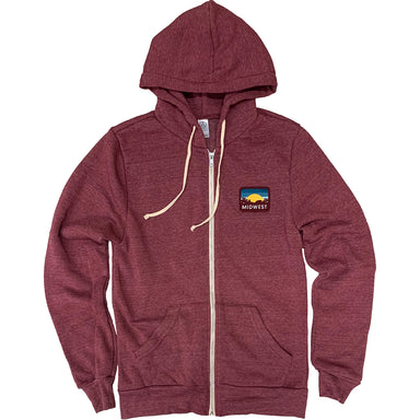Midwest Sunset Patch Zip Up Hoodie