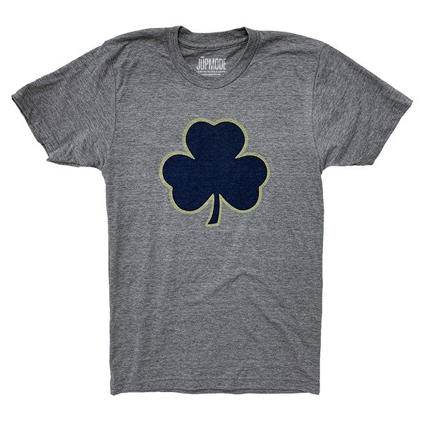 Navy & Gold Shamrock Shirt - Jupmode