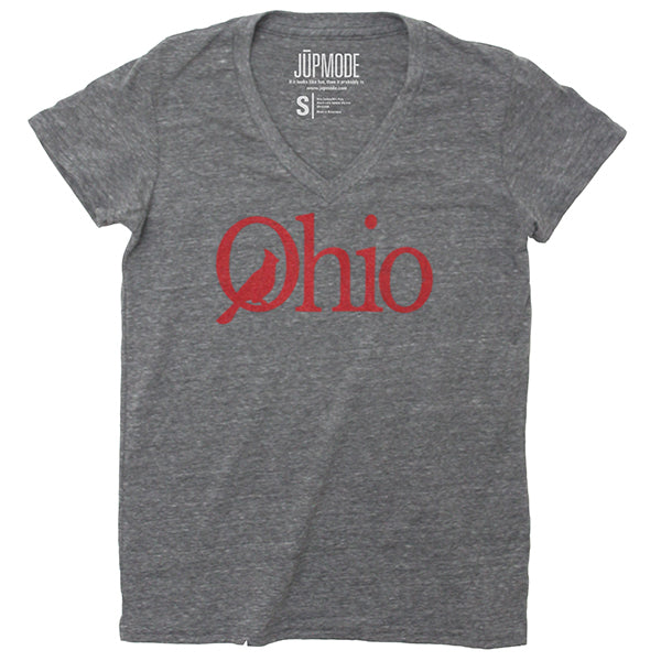 Ohio Cardinal Women's V-neck