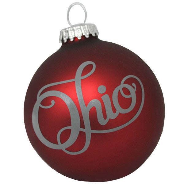 Fancy Ohio Ornament