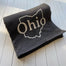 Ohio Outline Sweatshirt Blanket