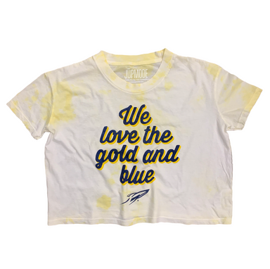 UT Gold and Blue Tie Dye Crop Shirt - Jupmode