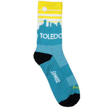 Toledo, Ohio Skyline Socks - Jupmode