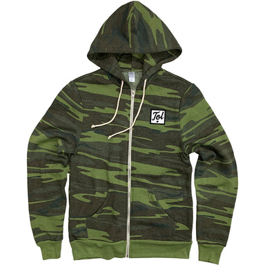 TOL Script Patch Camo Zip Up Hoodie