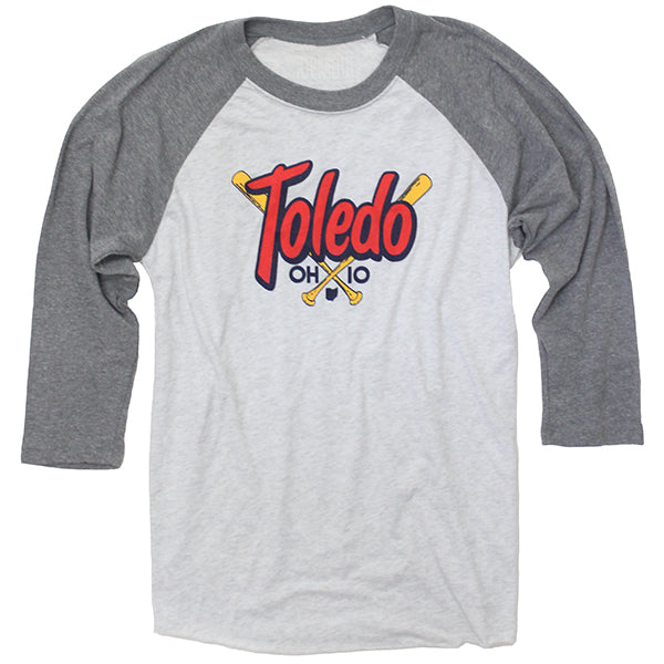 Toledo Crossed Bats Raglan