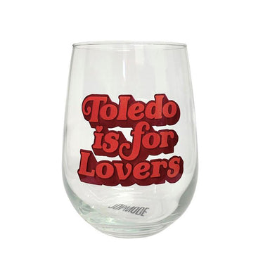 Toledo is for Lovers Stemless Wine Glass - Jupmode