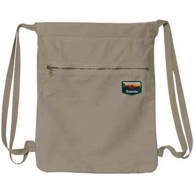 Toledo Sunset Patch Drawstring Backpack
