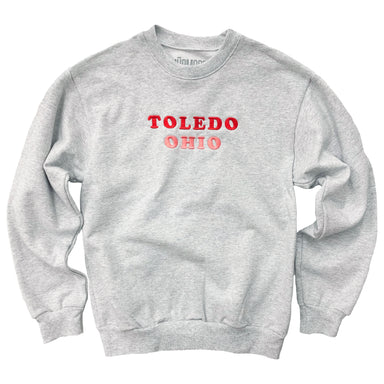 Toledo Ohio Embroidered Heavy Sweatshirt - Jupmode