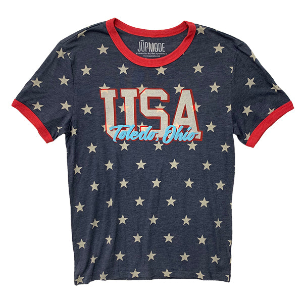 USA Stars Ringer Shirt