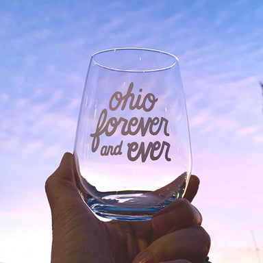 Ohio Forever and Ever Stemless Wine Glass