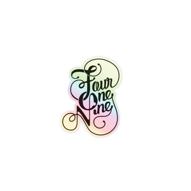 Holographic Fancy Four One Nine Vinyl Sticker - Jupmode