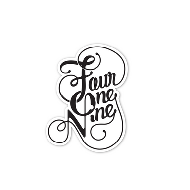 3-Pack Fancy Four One Nine Vinyl Sticker - Jupmode