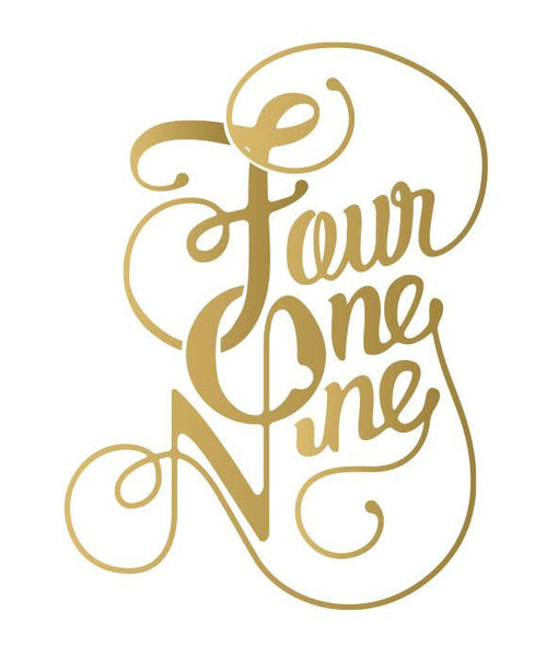Metallic Fancy Four One Nine Tattoo