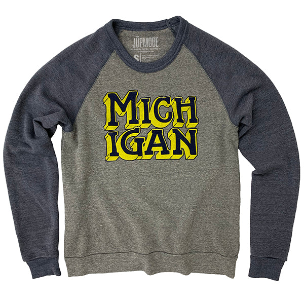 Michigan Colorblock Sweatshirt - Jupmode