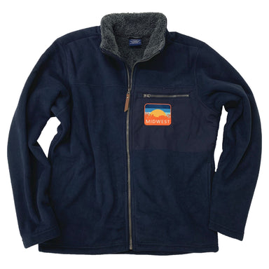 Midwest Sunset Unisex Sherpa Fleece Jacket - Jupmode