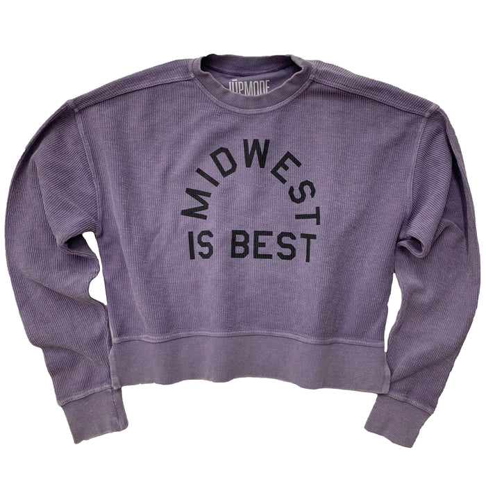 Midwest is Best Corded Cropped Crew - Jupmode