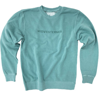 Midwesterner Mint Embroidered Sweatshirt - Jupmode
