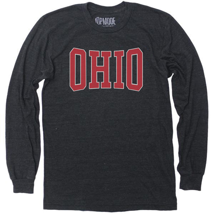Red Ohio Pride Long Sleeve Shirt