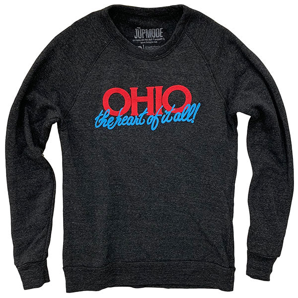 Ohio the Heart of it All Crew Sweatshirt