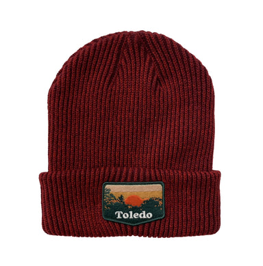 Toledo Sunset Patch Cozy Beanie - Jupmode