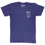 Blue short sleeved shirt with cream colored TBC 1884 logo on left chest.
