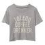 Toledo Coffee Drinker Crop Shirt - Jupmode