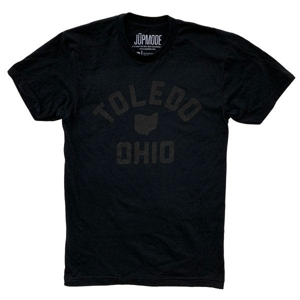 Black on Black Toledo Ohio Shirt - Jupmode