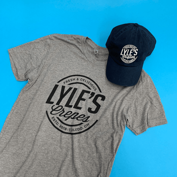 lyle's crepes t-shirt and hat