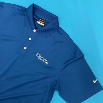 custom embroidered nike polo for surface combustion