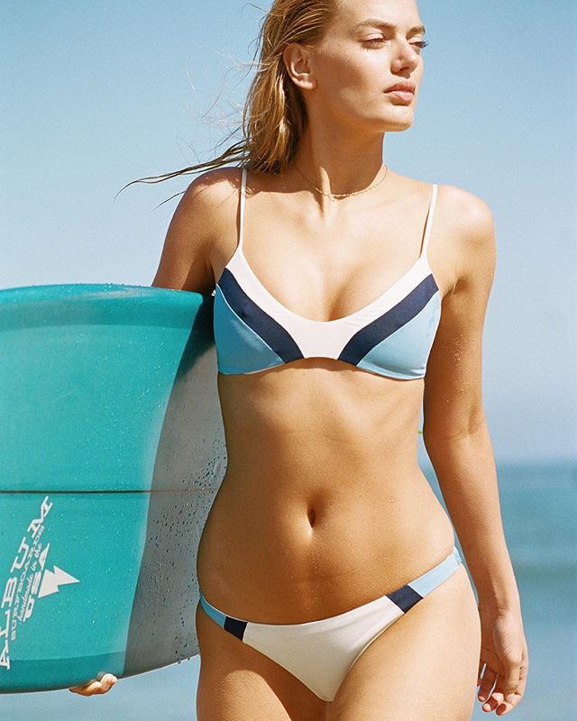 L*Space Colour Block Bodhi Bikini Top at BEACHKIND