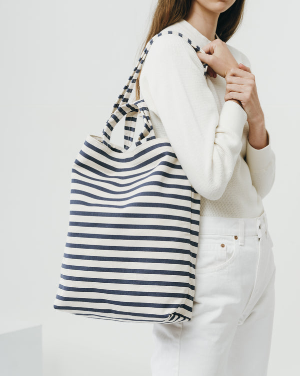 BAGGU Duck Tote Bag - Sailor Stripe | BEACHKIND