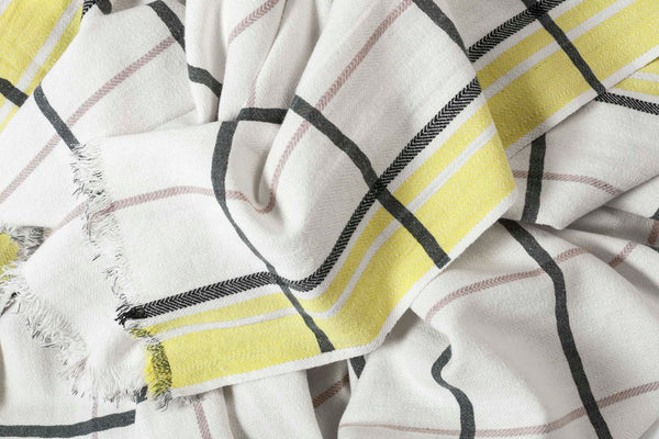 Le cerise sur le gateau beach sheet citron check