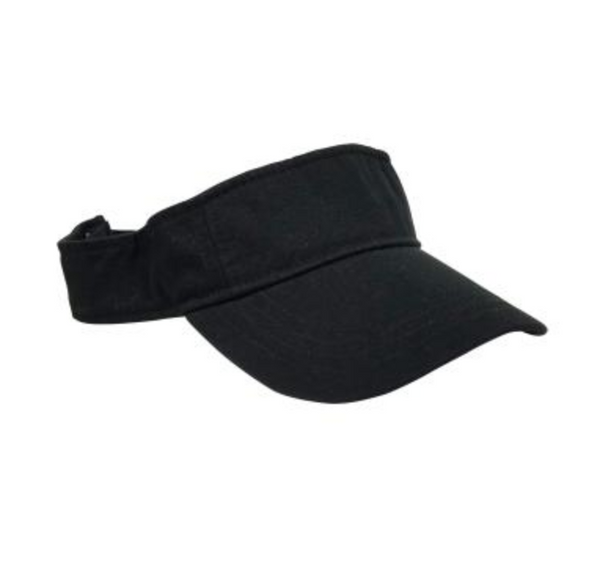 Hat Attack Canvas Visor Black