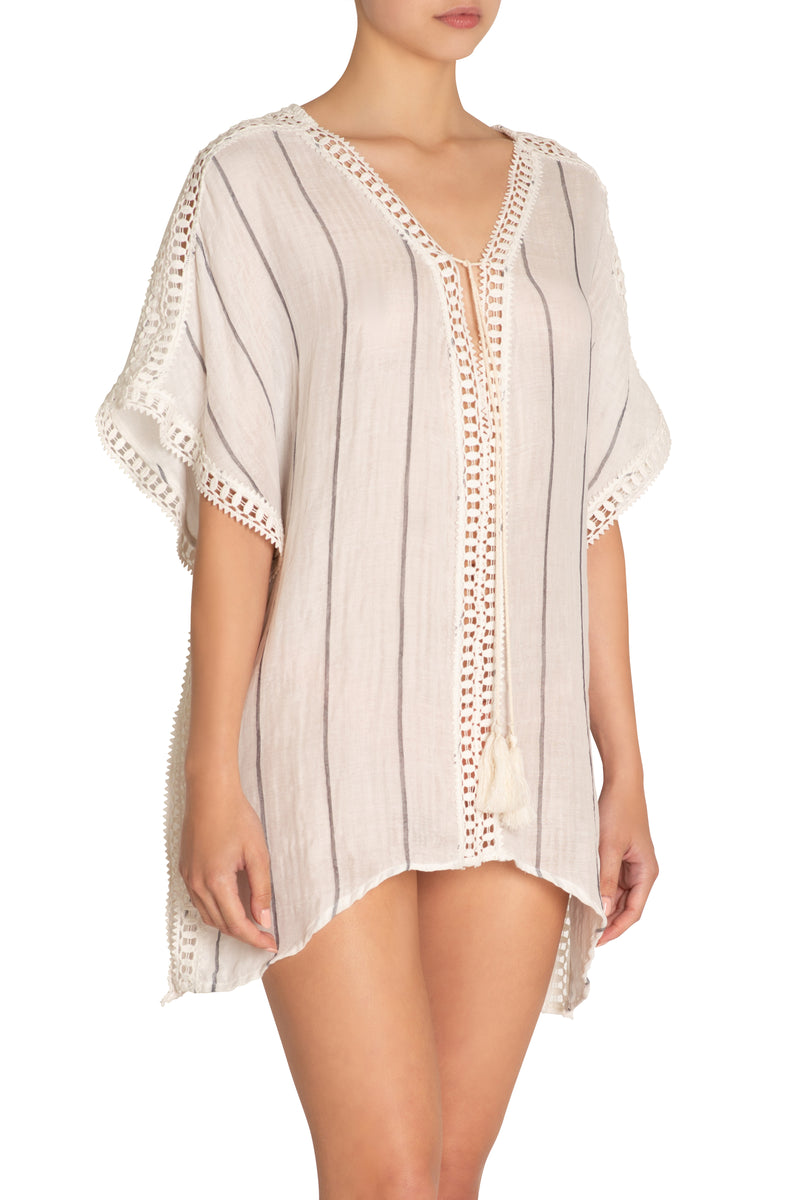 Eberjey Awning Stripe Cover Up at BEACHKIND