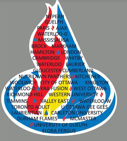 Waterloo provincials event logo - BACK design moisture wicking