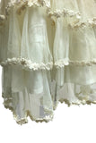 13bce29ef ... Rustic Ivory Boho Layered Lace Embroidered Flowers and Eyelets Girls  Dress ...