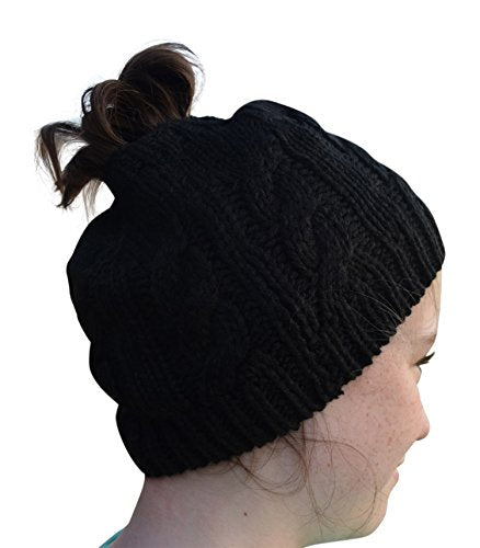 3db5a1e015a3 Nickanny's Crochet Messy Bun Beanie Style With Hole For Ponytail Hat P –  Nickanny's Treasures