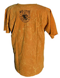 Acid Wash Yoga Yellow Gold Tree Of Life Screenprint T Shirt With Animals