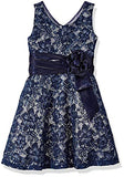 Bonnie Jean Girls' Little' Lace Party Dress, Sequin Navy