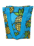 Reusable Zippered Top Insulated Lunch Bag (Blue Pineapple)