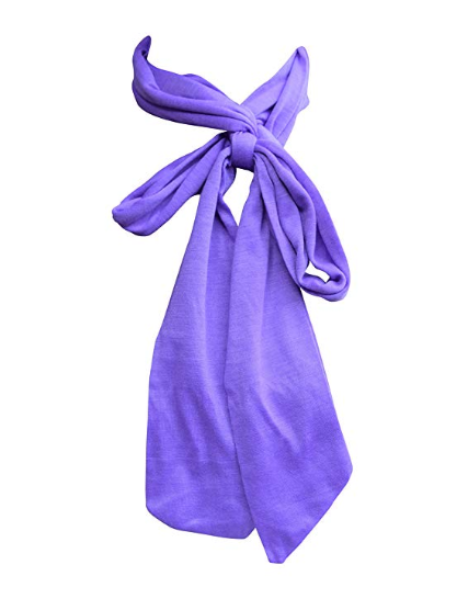 Anny's Skinny Jersey Knit Solid Tie Scarf (8 Colors)