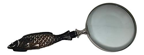 Premium Hand Carved Magnifying Glass with Polished Buffalo Bone Handle
