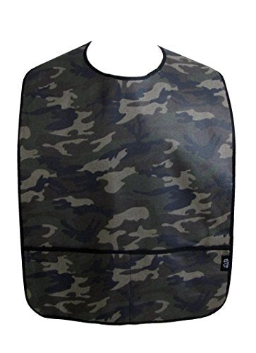Adult Clothing Protector Bib with Front Pockets