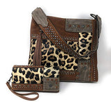 Concealed Carry Hobo Single Strap Purse Leopard Animal Print Design-Wallet