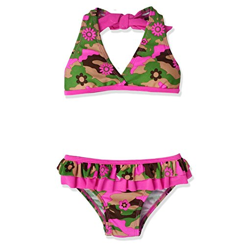 JumpN Splash Girls Flower Camouflage Bikini w/ Water Wings (2T)